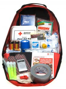 "Red Cross ""ready to go"" preparedness kit"